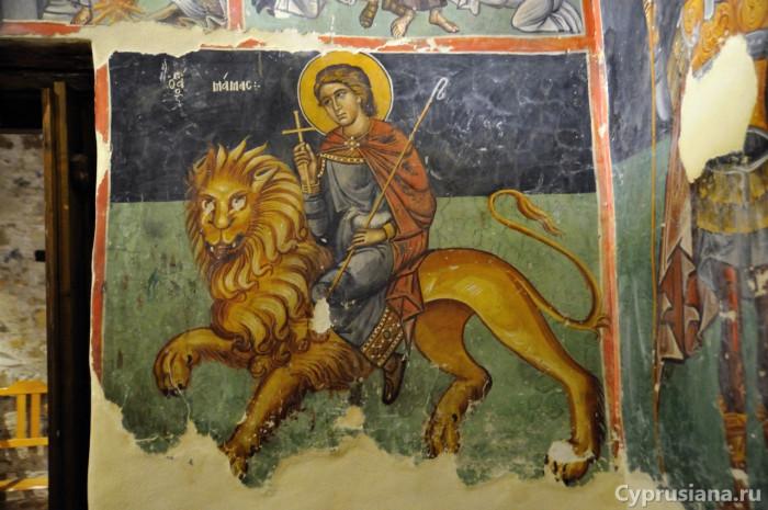 Церковь Спасителя (Преображения Господня) в Палеохорьо (второе десятилетие XVI века, считается одним из лучших поствизантийских живописных ансамблей Кипра)