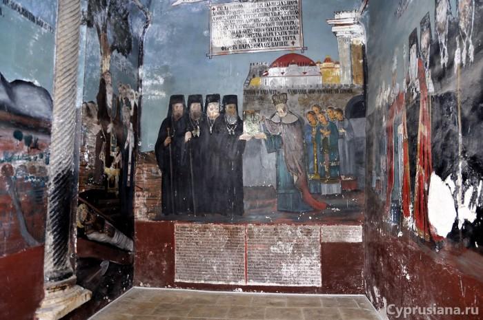 Фрески в храме св. Варнавы