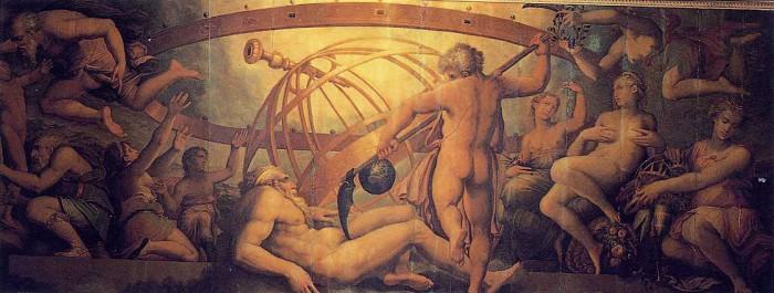 Оскопление Урана Кроносом, Джорджо Вазари и Жерарди Христофано, XVI век, Палаццо Веккьо
