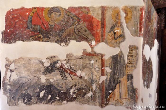 Святой Георгий на коне и Святой Иоанн Предтеча
