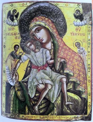 Богоматерь Киккская. Кипр, XVIII в. Монастырь пресвятой Богородицы Амасгу в селении Монагри