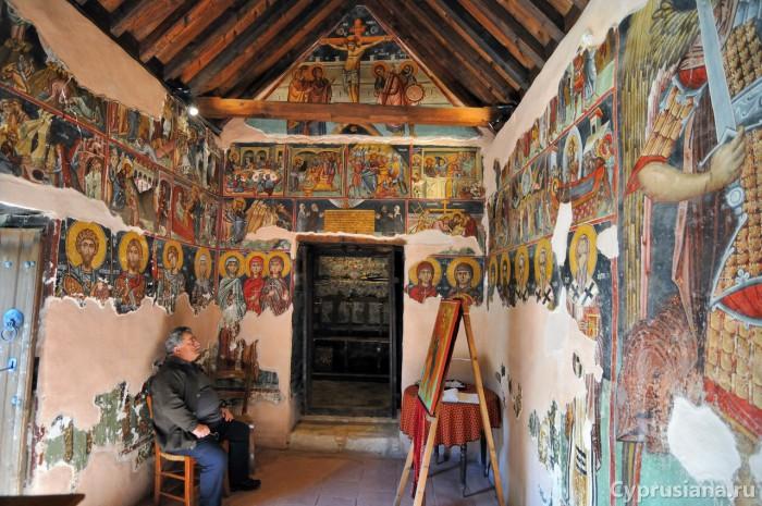 Фрески в церкви св. Мамаса