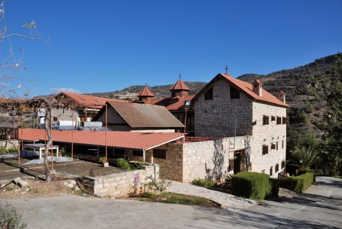 Вид на монастырь Панагии Амасгу