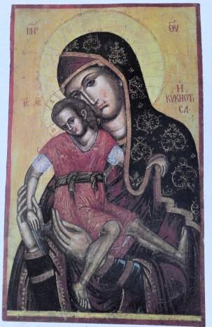 Богоматерь Киккская. Кипр, XVI в. Византйиский музей в селении Педулас