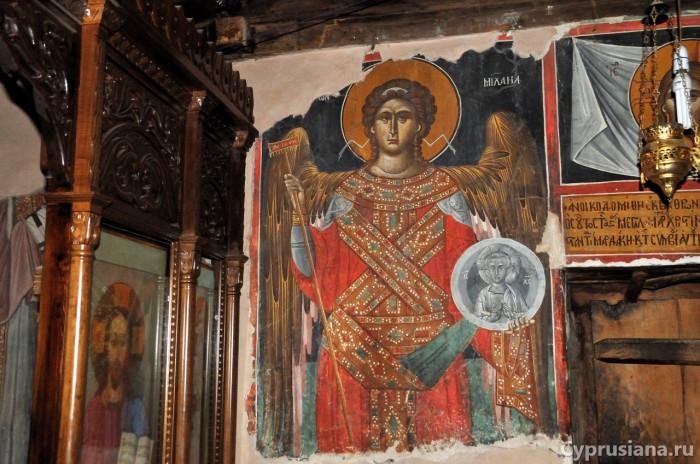 Архангел Михаил. 1518 год. Роспись часовни св. Кристины в Аскас
