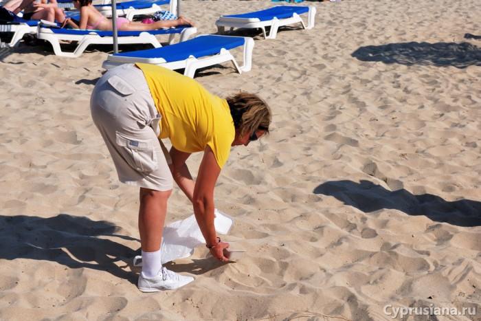 Сбор песка