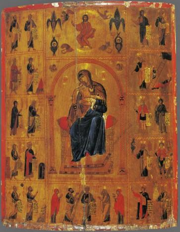 Богоматерь на троне с пророками и святыми. ΧΙΙ век, монастырь св. Екатерины на Синае