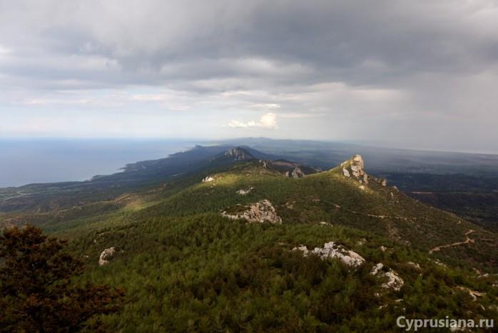 Вид на Карпасию с вершины Кантары