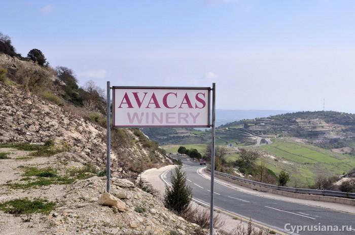 Avacas Winery. Вид с дороги