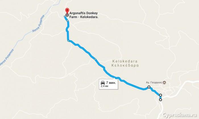 Путь проезда к ферме