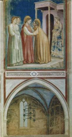 Встреча Марии и Елизаветы (1403-1406). Капелла Скровеньи, Падуя