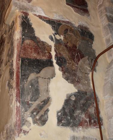 Святой Георгий. Роспись церкви св. Антония в Келлиа (недалеко от Ларнаки). XI или начала XII века