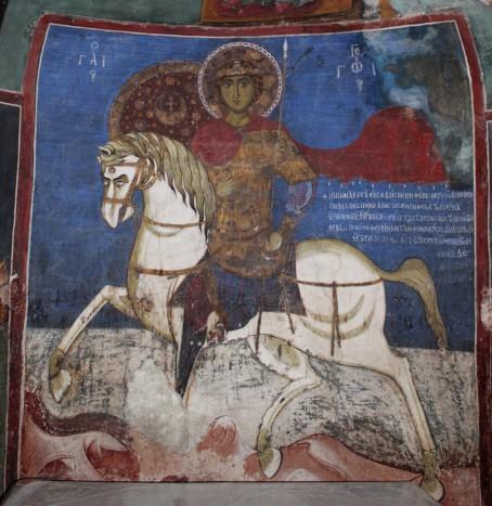 Святой Георгий из Асину. Общий вид