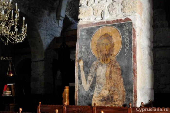 Фреска Иоанна Крестителя