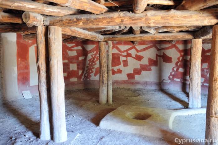 Внутри домика
