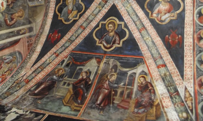 «Благовещение»: «Ангел предстатель…» и «Видящи себя в чистоте…». Росписи Латинской капеллы