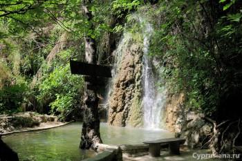 Водопад в Trimiklini