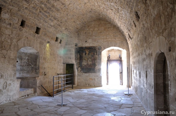 Фреска на втором этаже замка Колосси
