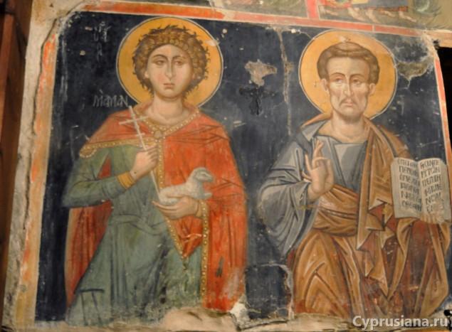 Церковь Успения Богоматери в деревушке Курдали (росписи начала XVI века).
