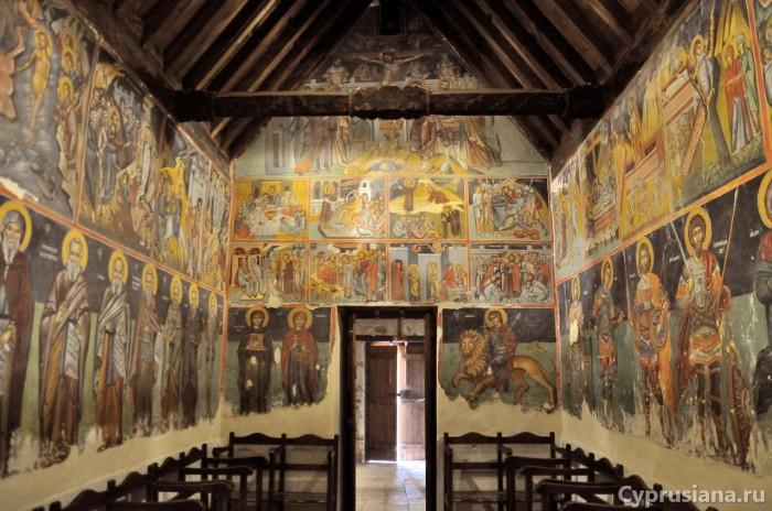 Фрески в церкви Преображения Господня