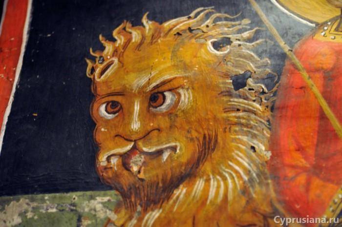 Лев в церкви Святого Созомена в Галате