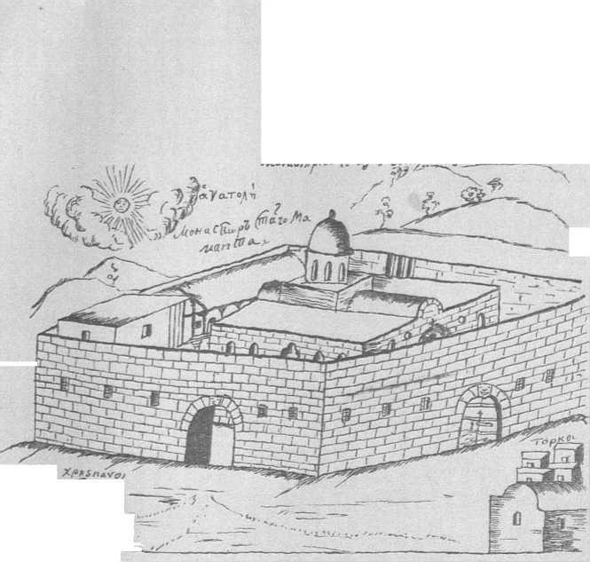 монастырь св Маманта 1727