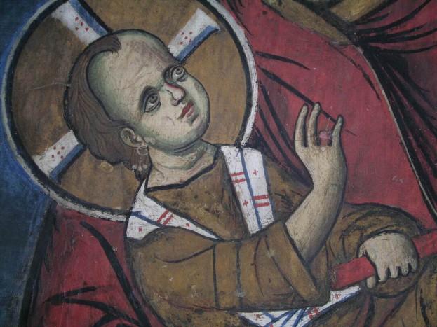 Младенец Христос с серьгой в ухе