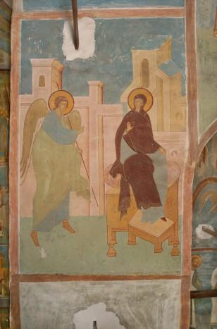 Дионисий. Благовещение («Видящи себя в чистоте…»). 1502. Рождественский собор Ферапотнтова монастыря