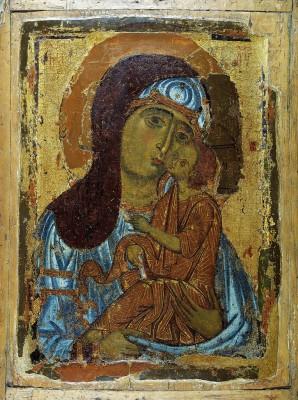 Богоматерь Умиление. Начало XIII века. Успенский собор Московского Кремля