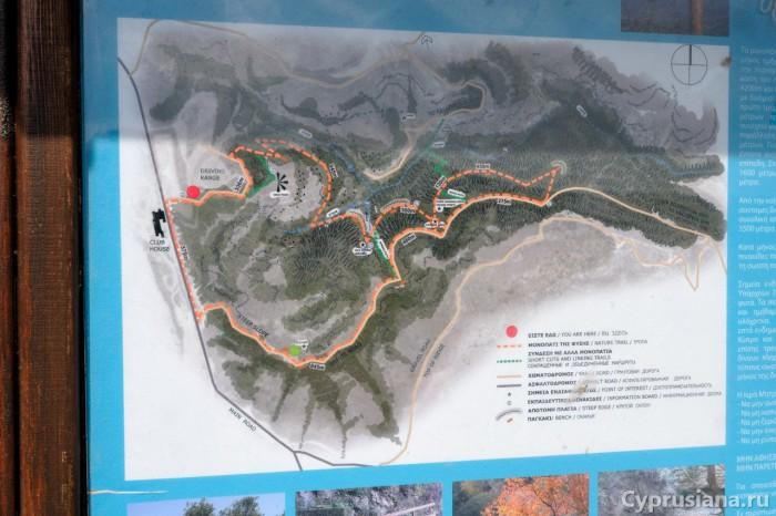 Схема тропы Minthis Hills